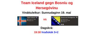 Team Iceland gegn Bosníu og Hersegóvínu 5+2 @ chess.com